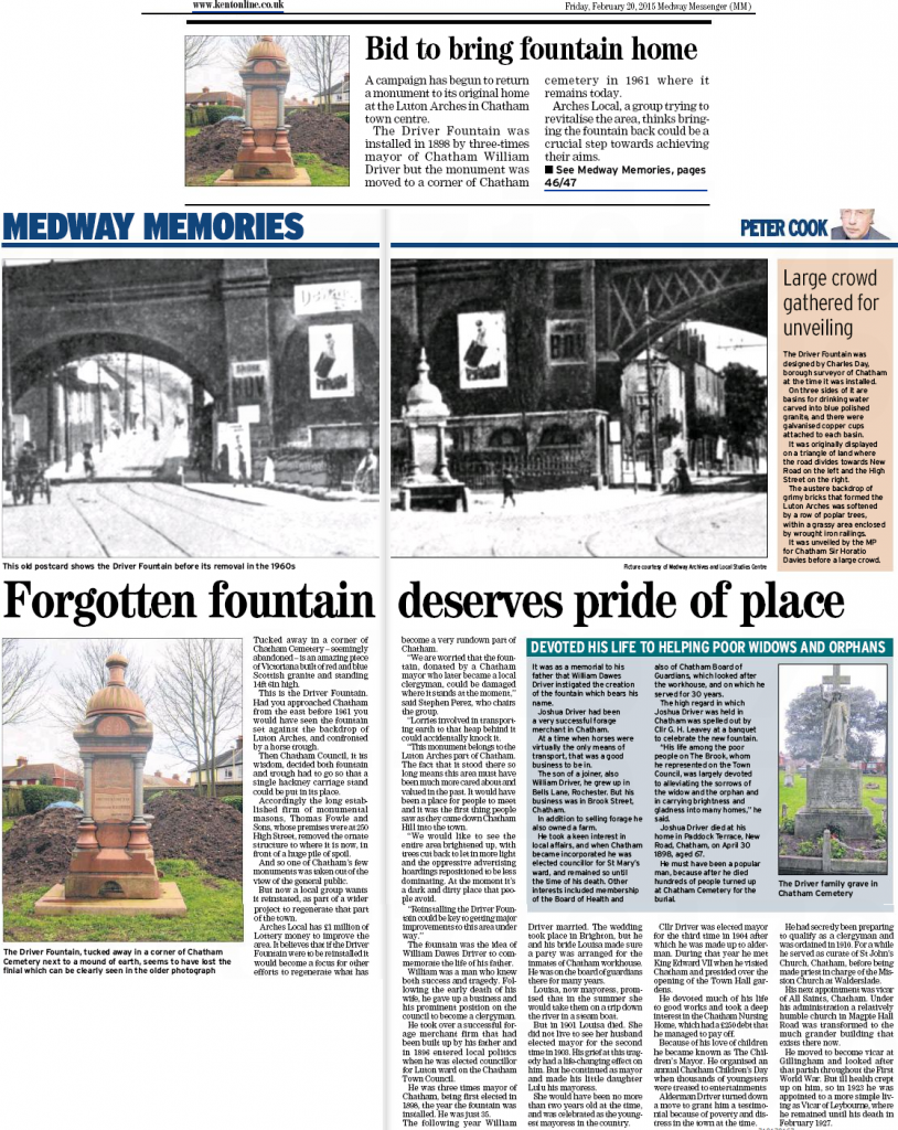 Driver Fountain Medway Messenger